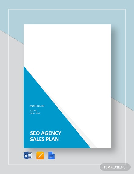 SEO Agency/Company Sales Plan Template