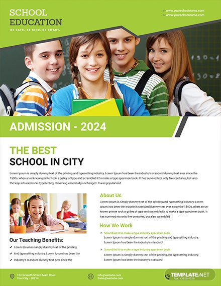education flyer template 1x