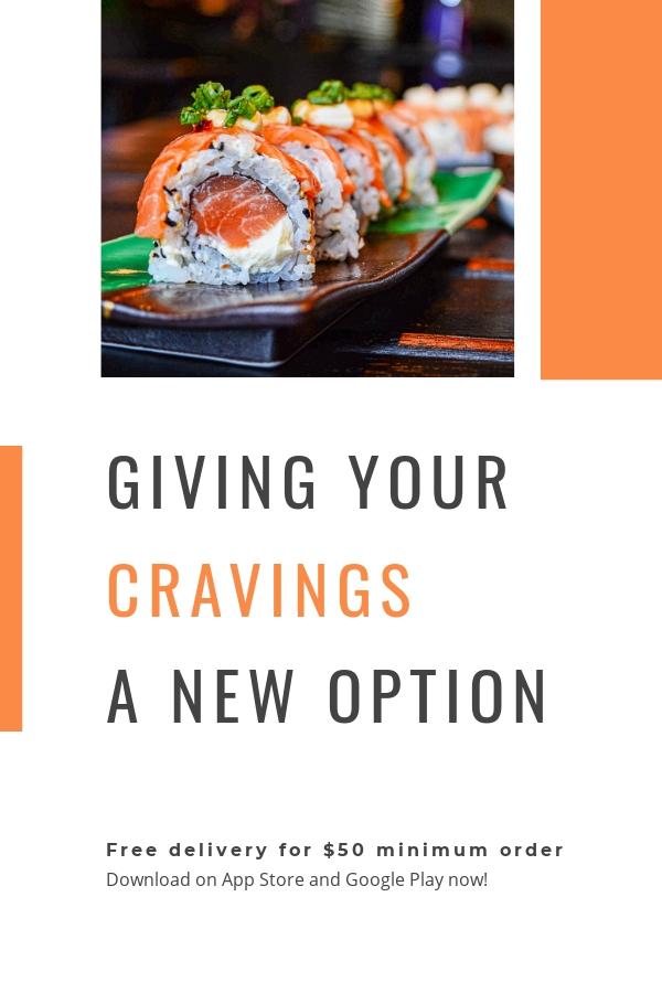 Editable Food App Promotion Pinterest Pin Template