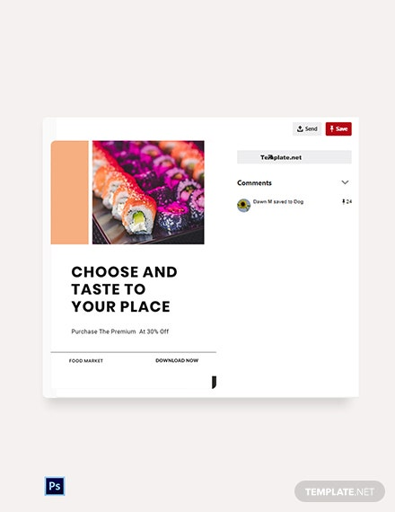 Free Editable Food App Promotion Pinterest Pin Template