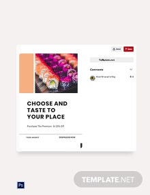 Free Editable Food App Promotion Pinterest Pin Template