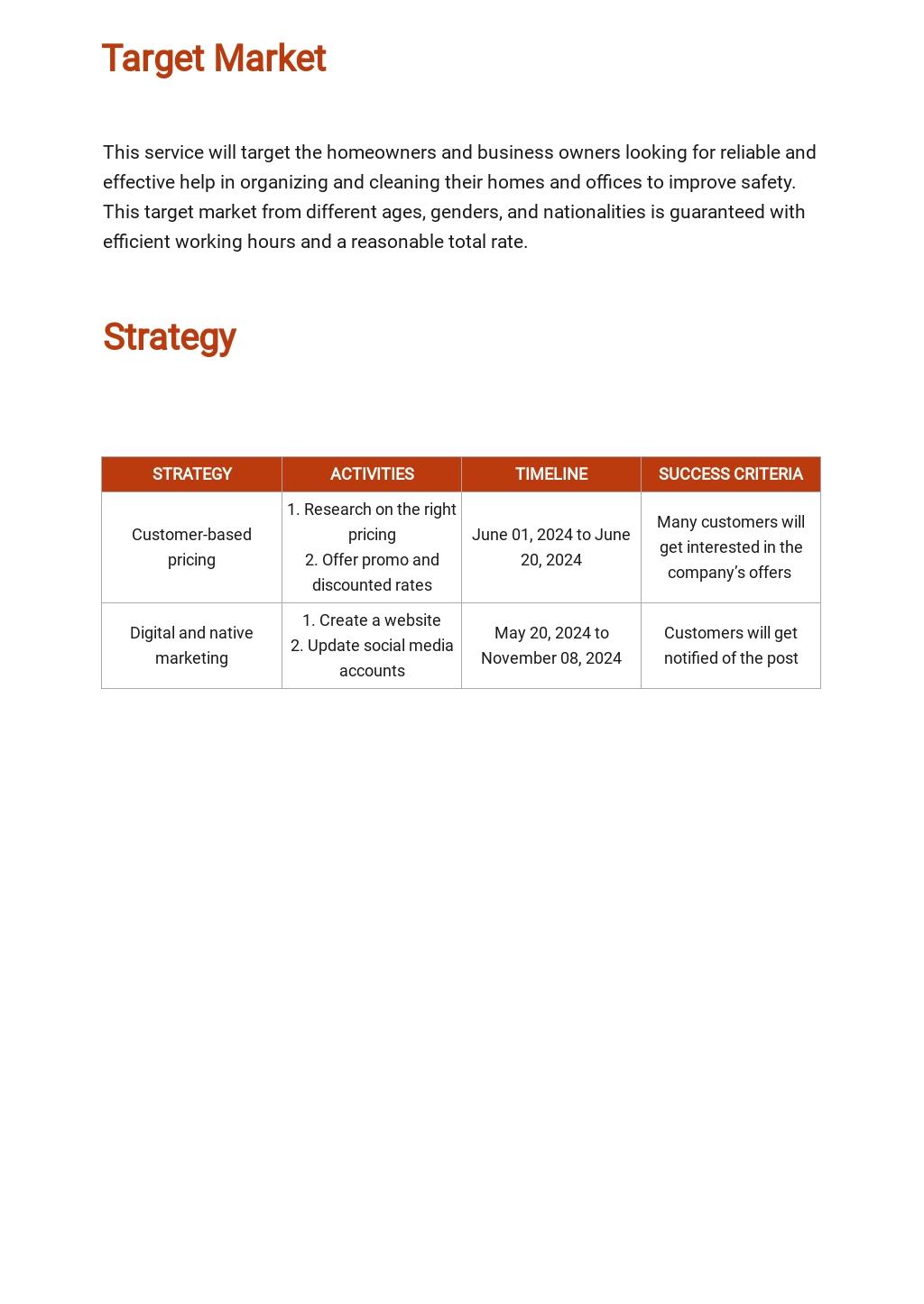 Service Marketing Plan Template 2.jpe