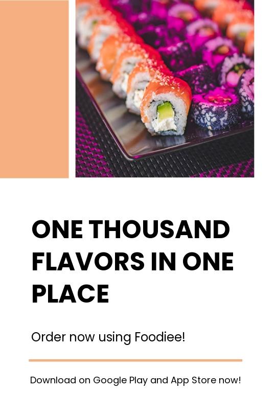 Editable Food App Promotion Tumblr Post Template