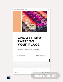 Free Editable Food App Promotion Tumblr Post Template
