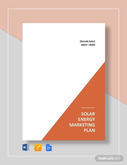Solar Energy Marketing Plan Template