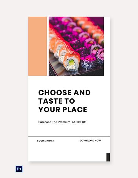 Free Editable Food App Promotion Whatsapp Image Template