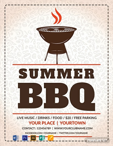 Free Summer BBQ Flyer Template