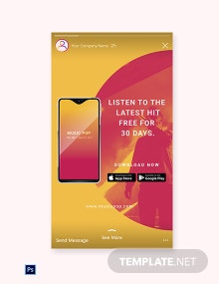 Free Elegant App Promotion Instagram Story Template