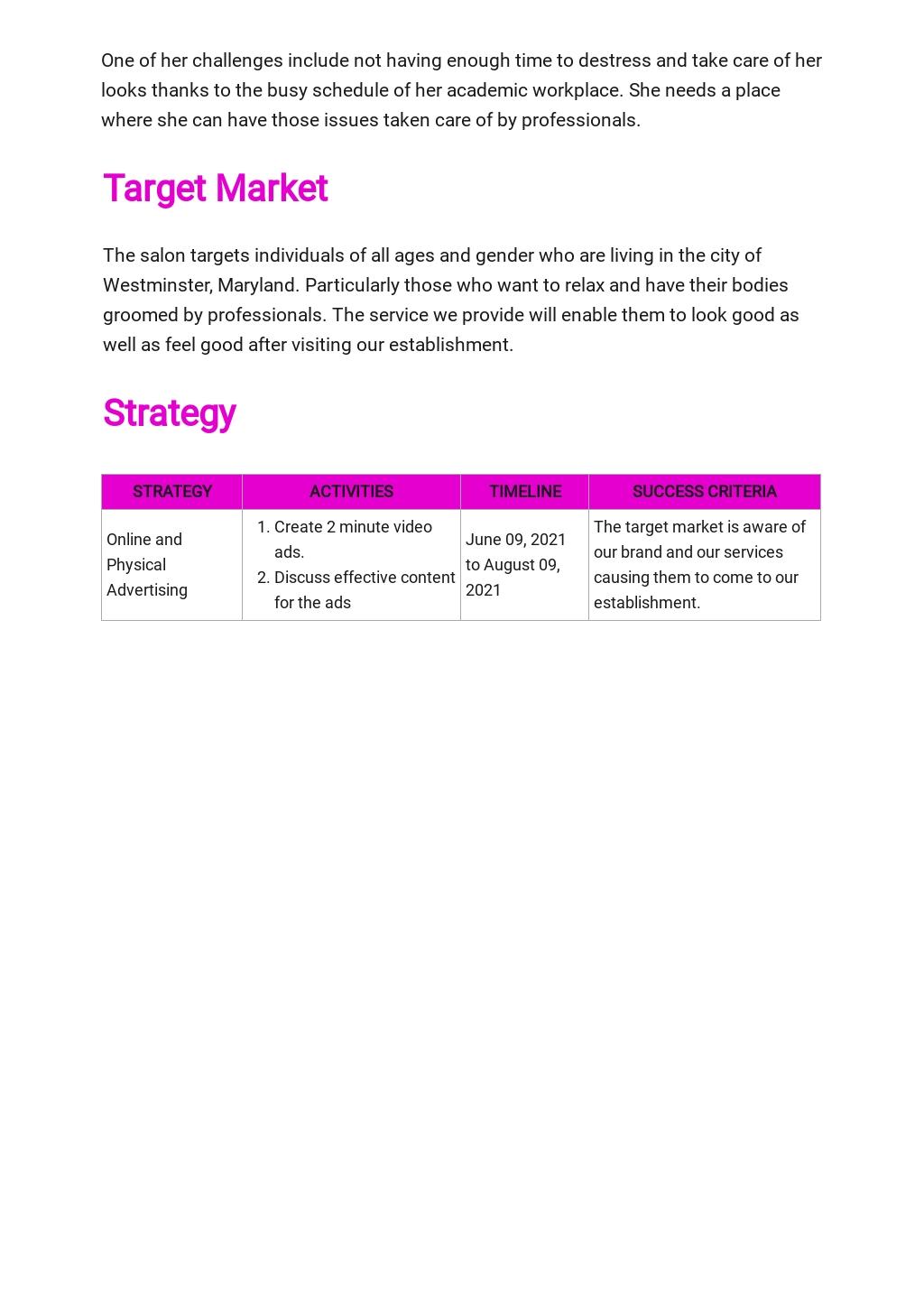 Spa or Salon Marketing Plan Template 2.jpe