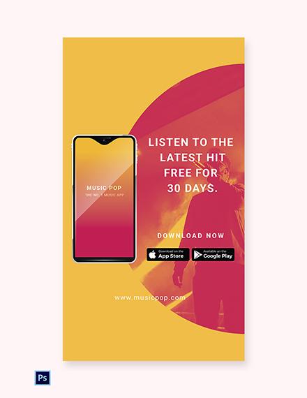 Free Elegant App Promotion Whatsapp Image Template