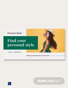 Free Fashion App Promotion Blog Image Post Template