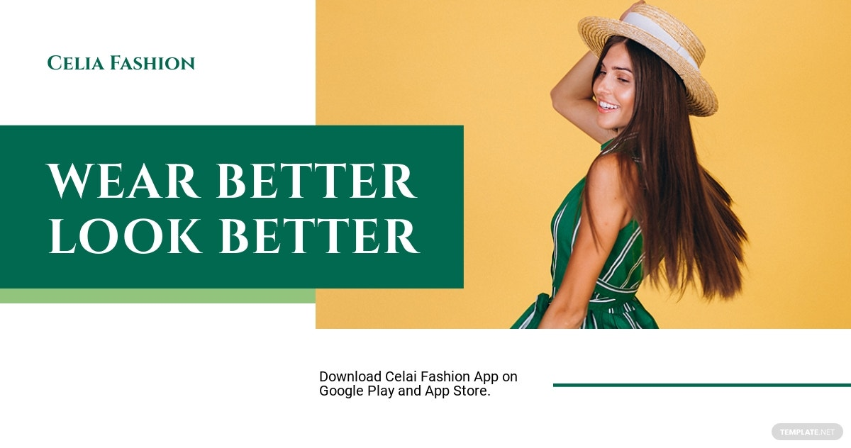 Fashion App Promotion Facebook Post Template