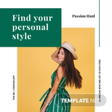 Free Fashion App Promotion Instagram Post Template