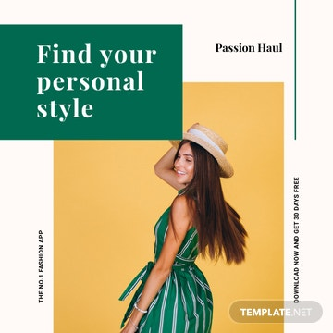 Fashion App Promotion Instagram Post Template