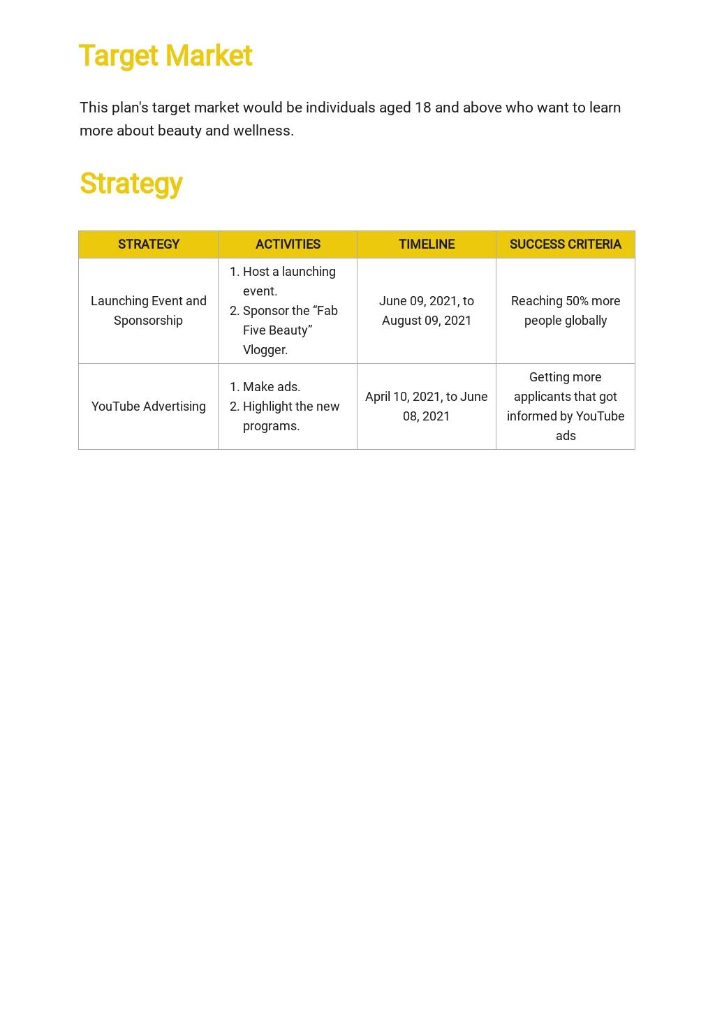 Training Institute Marketing Plan Template 2.jpe