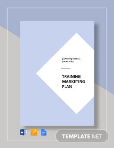 Training Institute Marketing Plan Template