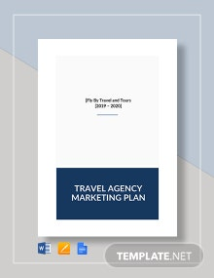 Travel Agency Marketing Plan Template