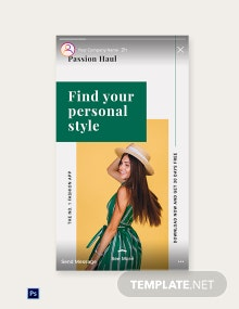 Free Fashion App Promotion Instagram Story Template