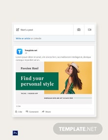 Free Fashion App Promotion LinkedIn Blog Post Template