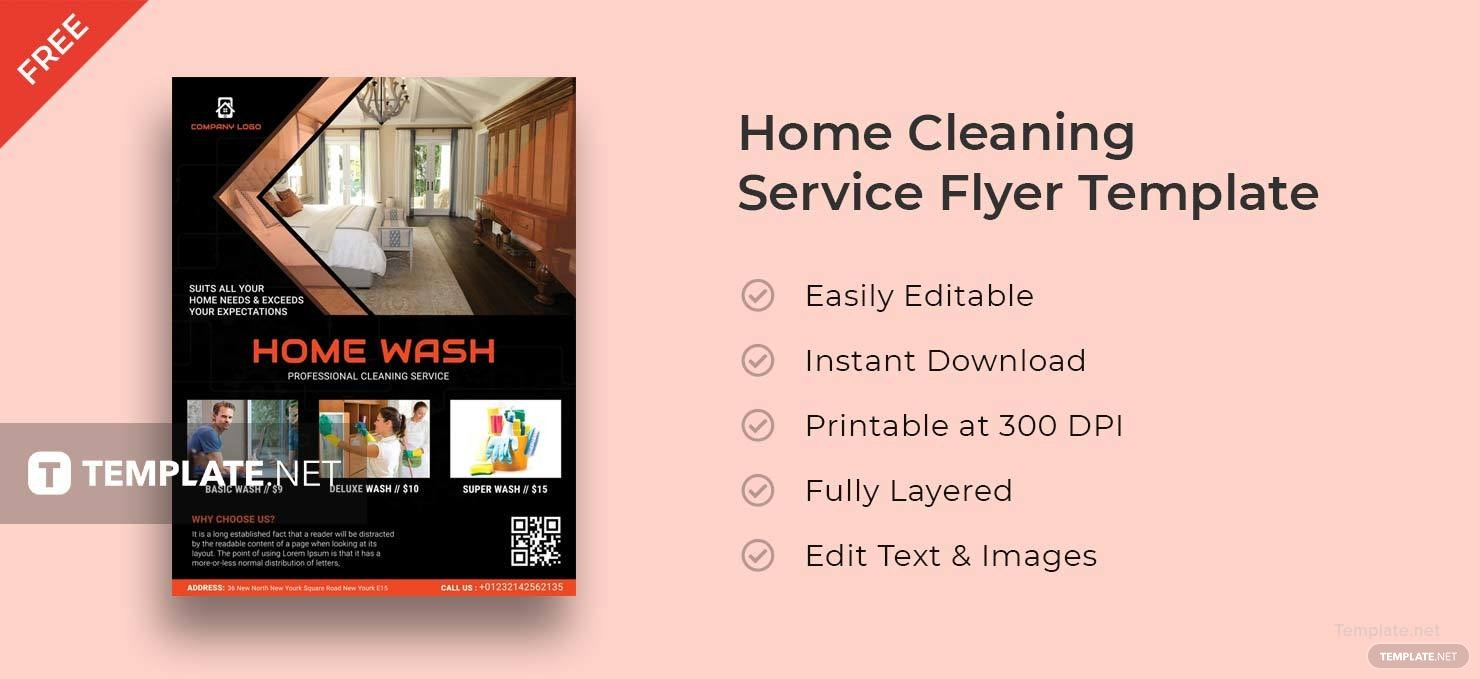 Free Home Cleaning Service Flyer Template in Adobe Photoshop ...