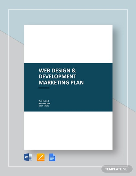 Web Design and Development Marketing Plan Template