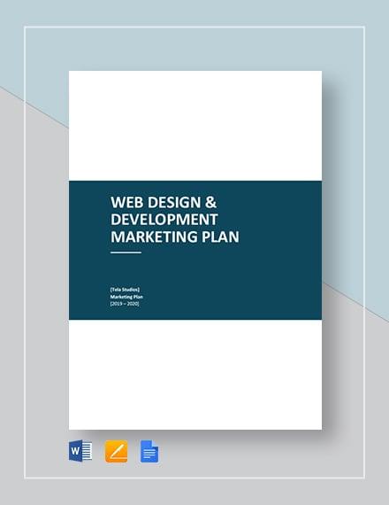 Web Design and Development Marketing Plan Template