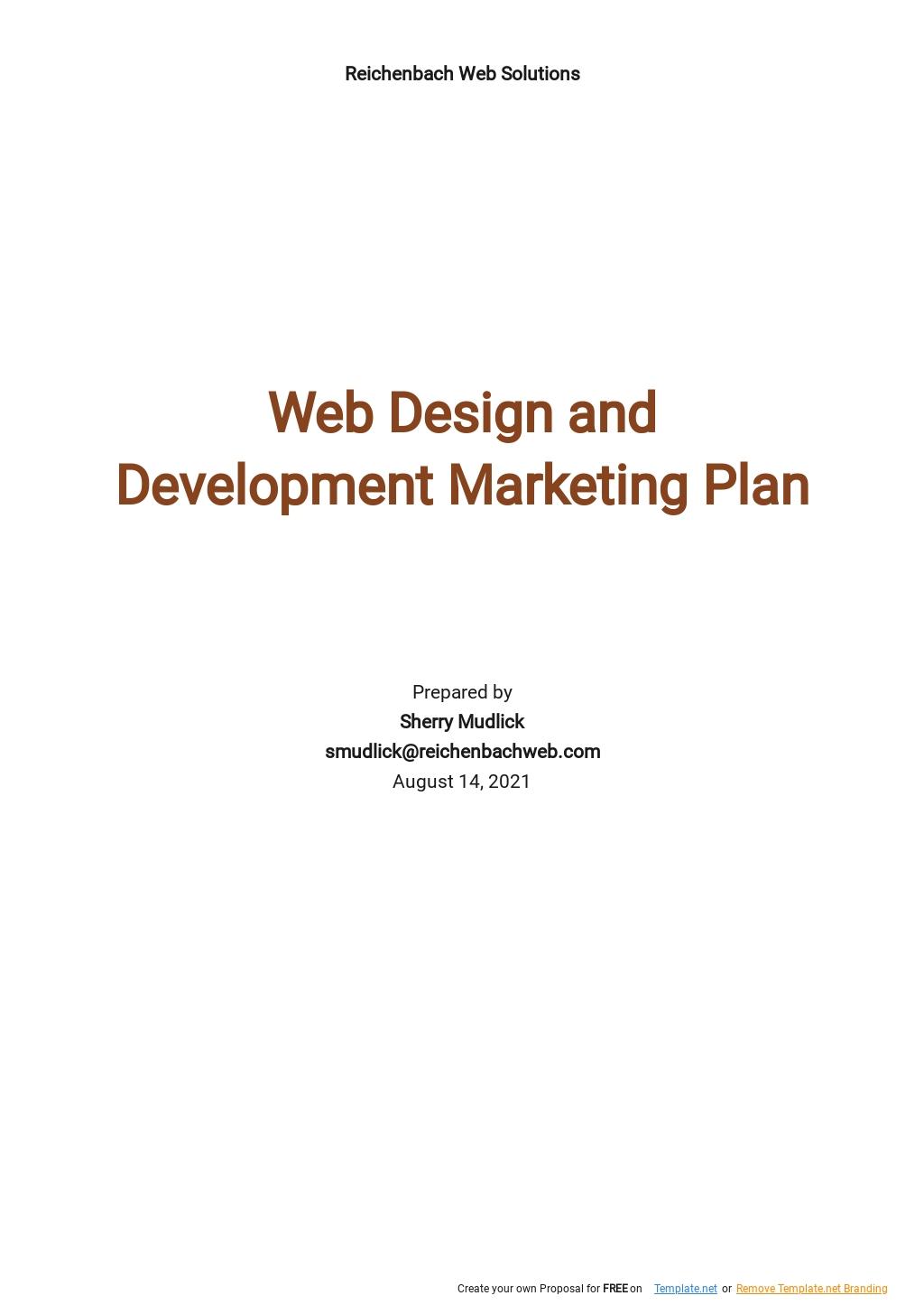 Web Design and Development Marketing Plan Template.jpe