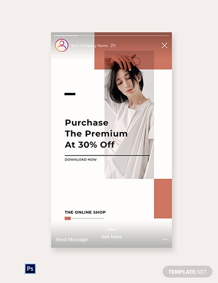 Free Minimalistic Fashion App Promotion Instagram Story Template