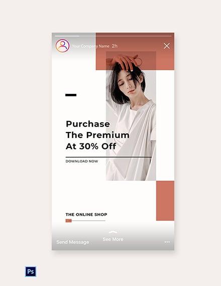 Free Minimalistic Fashion App Promotion Instagram Story Template