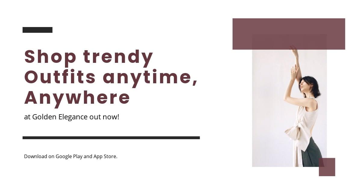 Free Minimalistic Fashion App Promotion Linkedin Post Template