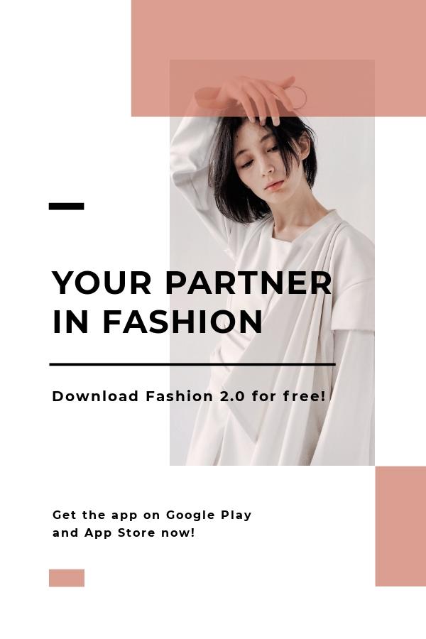 Free Minimalistic Fashion App Promotion Pinterest Pin Template.jpe