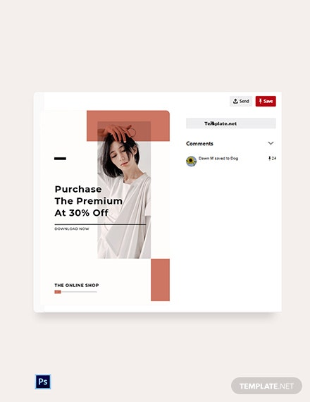 Free Minimalistic Fashion App Promotion Pinterest Pin Template
