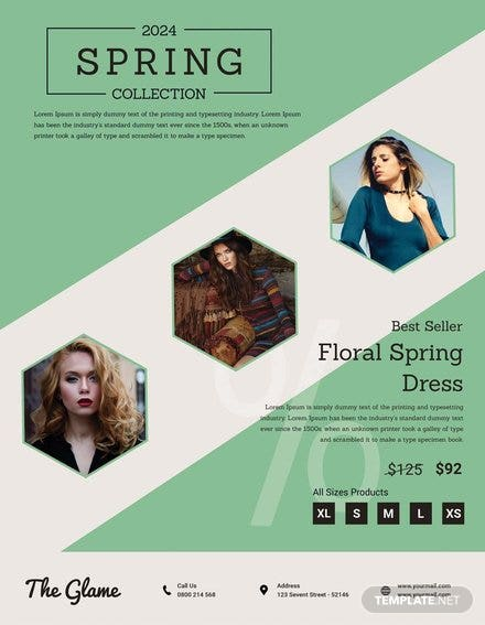 Free Spring Fashion Flyer Template