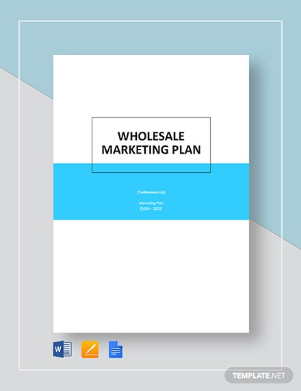 wholesale marketing plan