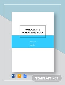 Wholesale Marketing Plan Template