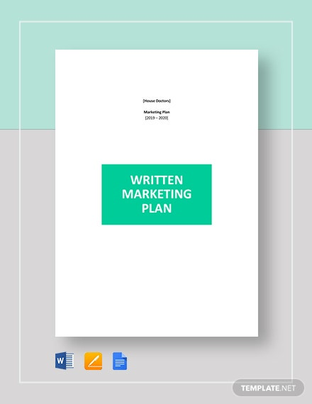written marketing plan