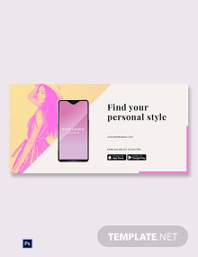 Free Fashion Store App Promotion Blog Post Template