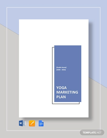 Yoga Marketing Plan Template