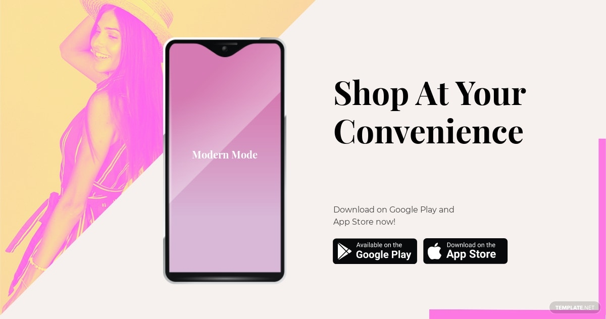 Free Fashion Store App Promotion Facebook Post Template.jpe