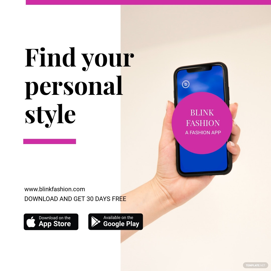 Fashion Store App Promotion Instagram Post Template