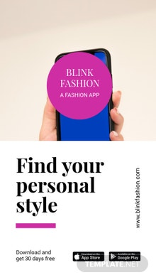 Free Fashion Store App Promotion Instagram Story Template