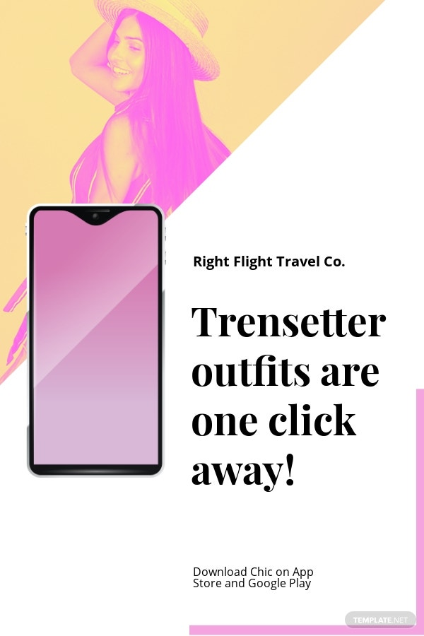 Free Fashion Store App Promotion Pinterest Pin Template