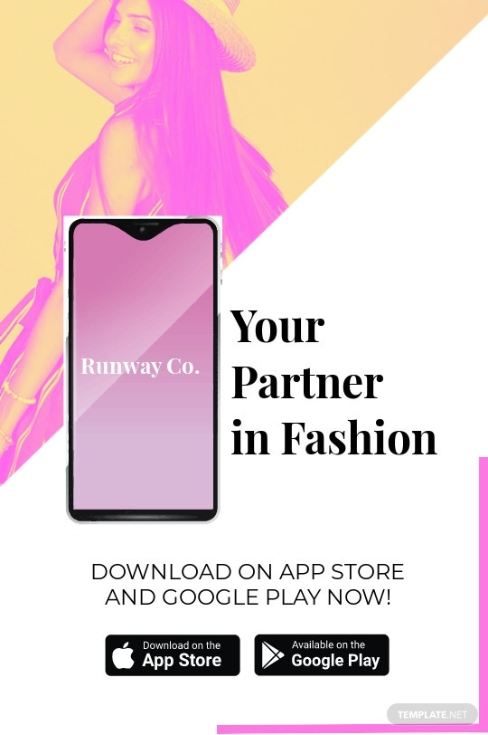 Free Fashion Store App Promotion Tumblr Post Template