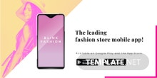 Free Fashion Store App Promotion Twitter Post Template