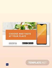 Free Food Mobile App Promotion Blog Post Template