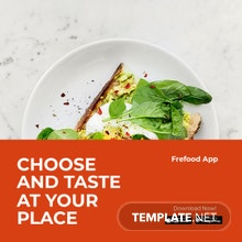 Free Food Mobile App Promotion Instagram Post Template