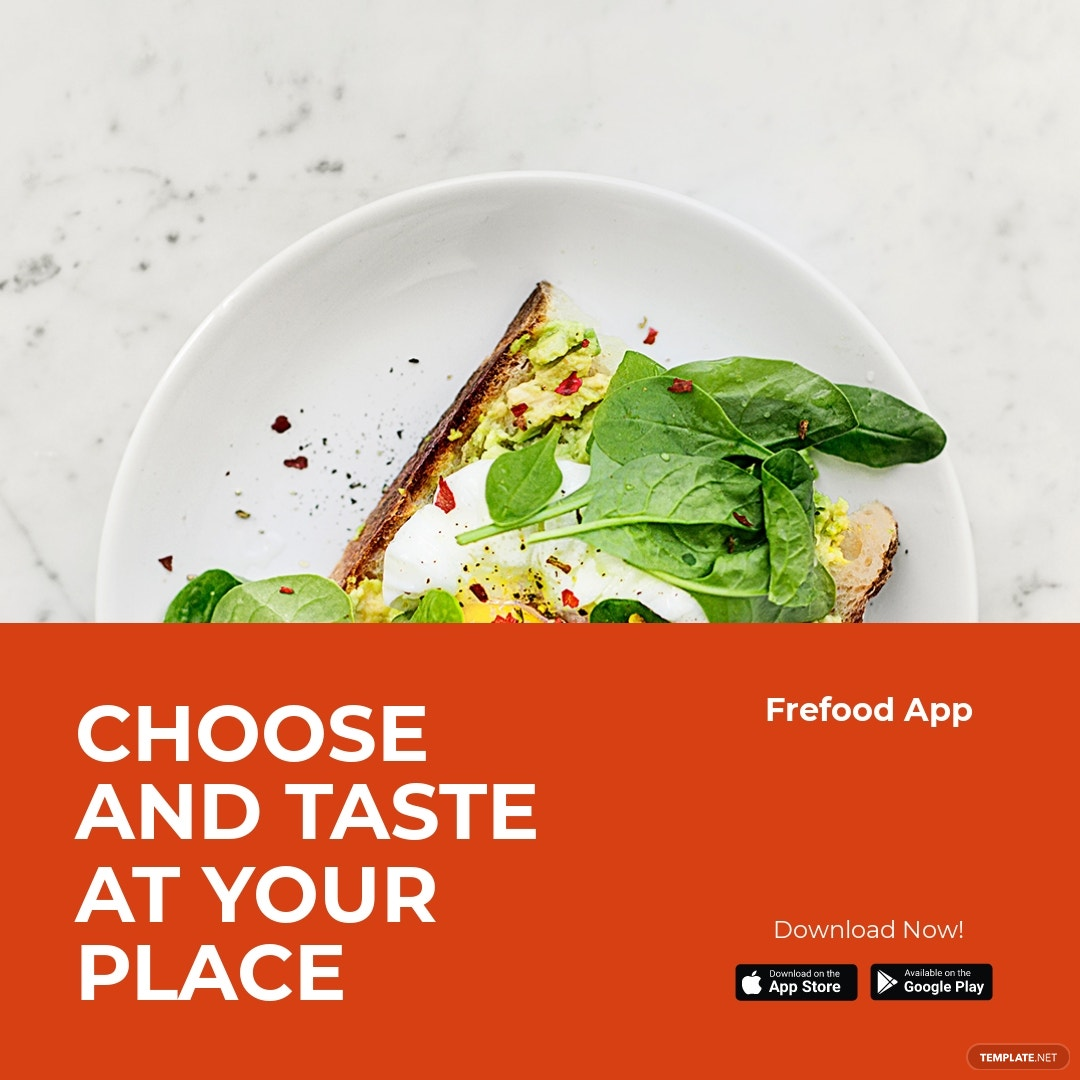 Free Food Mobile App Promotion Instagram Post Template.jpe