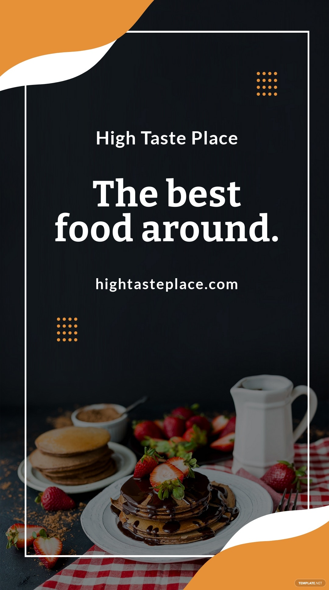 Free Food Mobile App Promotion Whatsapp Post Template