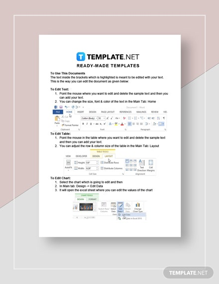 Personal Timeline Template Instructions