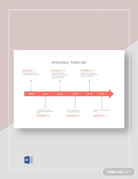 Personal Timeline Template